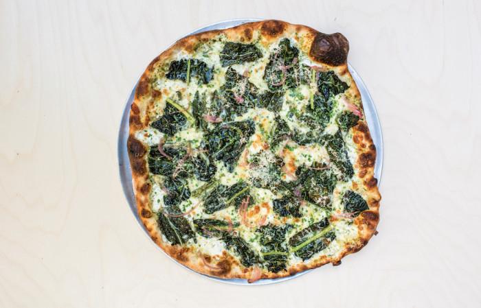 dinosaur kale pizza