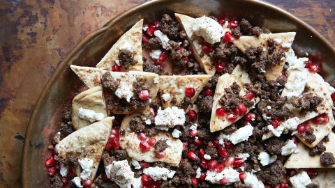 Middle Eastern Lamb Nachos