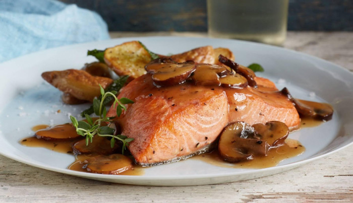 Salmon Marsala