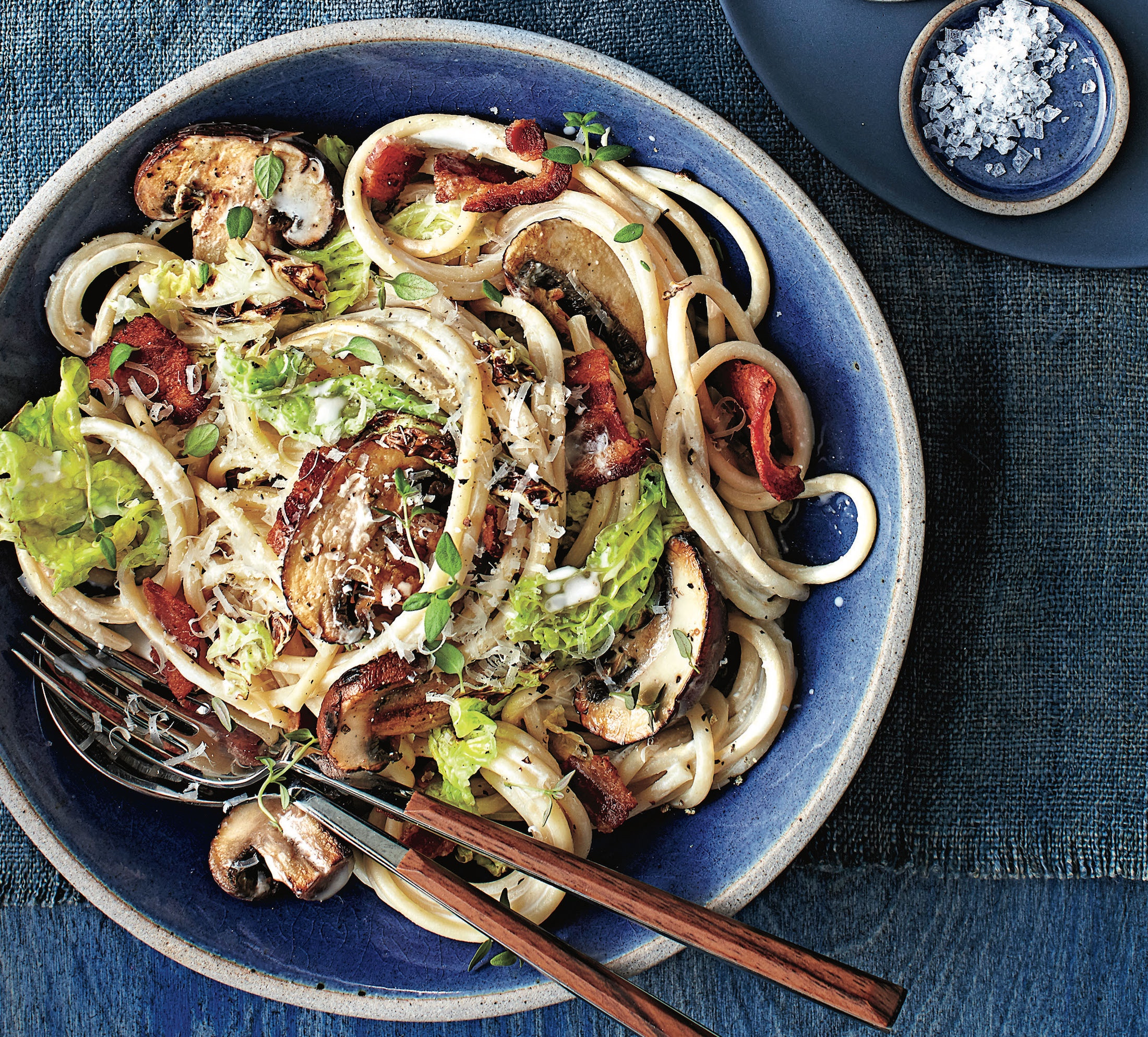Quick-Fix: Cabbage, Mushroom And Bacon Pasta For Dinner Tonight