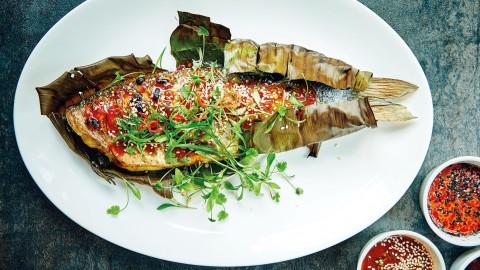 Thai baked seabass