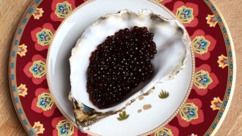 black caviar champagne