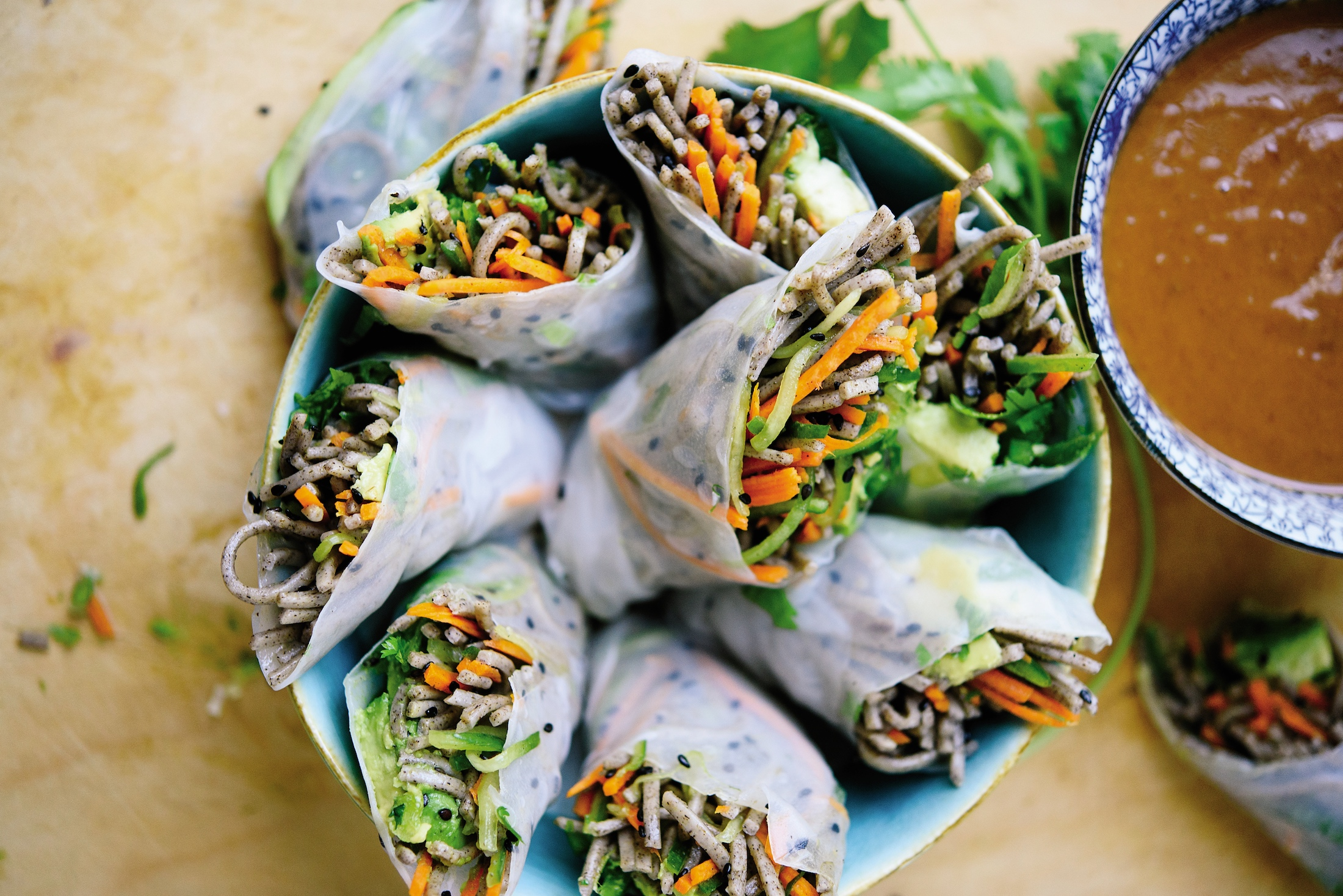 Veg Out With Kathryne Taylor S Fresh Sesame Soba Spring Rolls