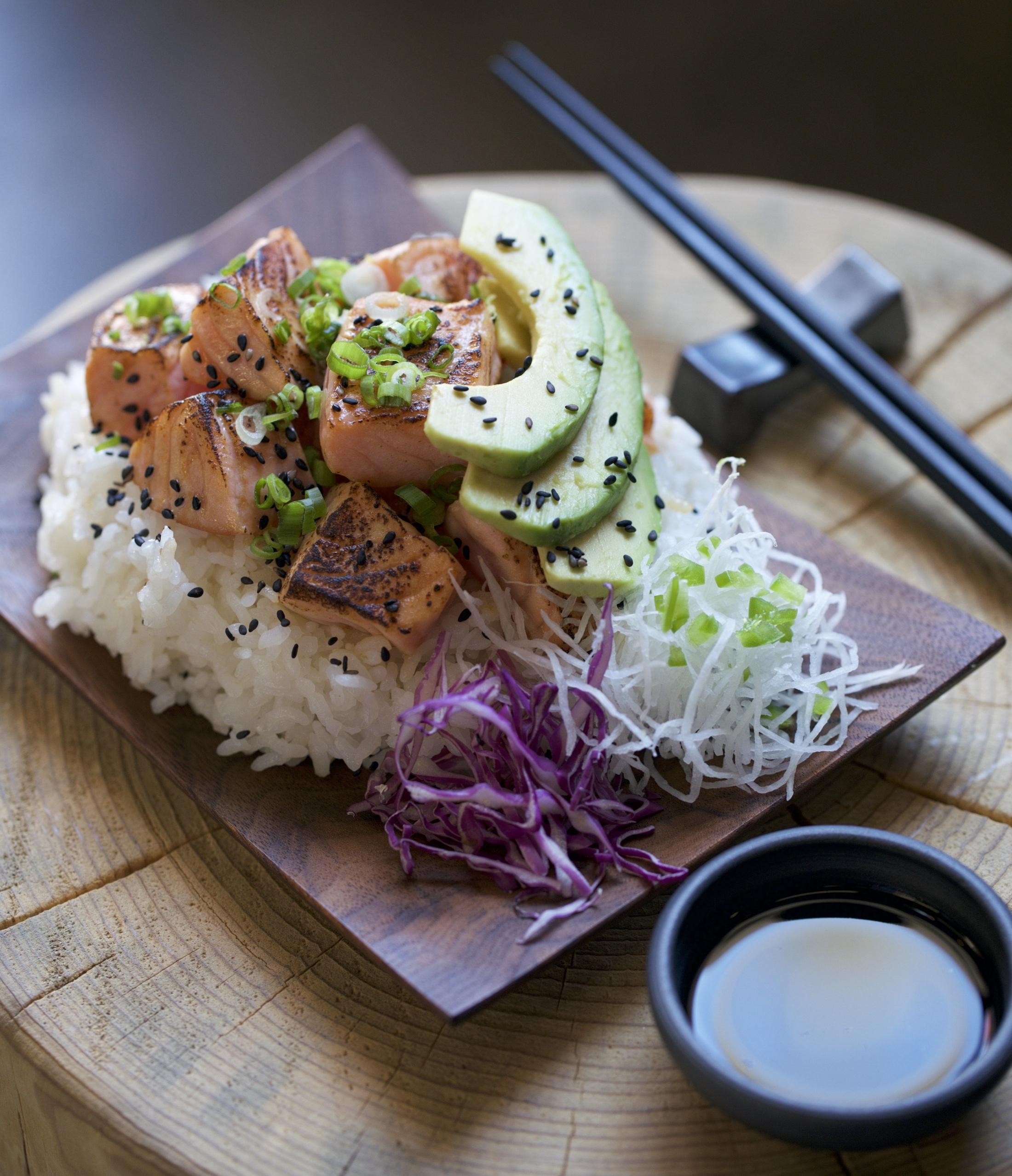Bowls Of Goodness: Cured Seared Salmon On Rice