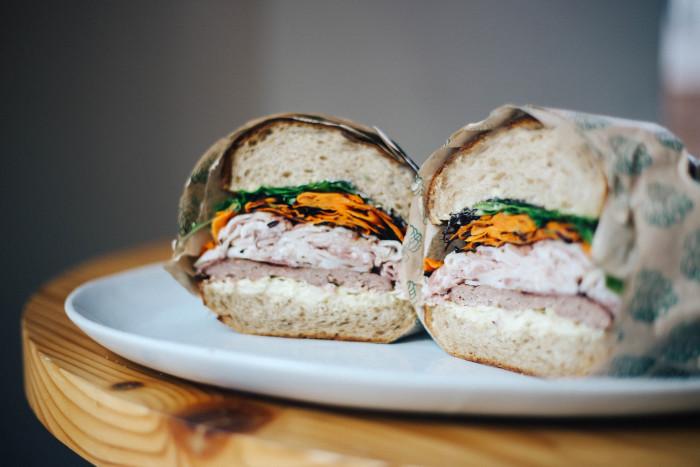 pork sando from Henbit in Austin