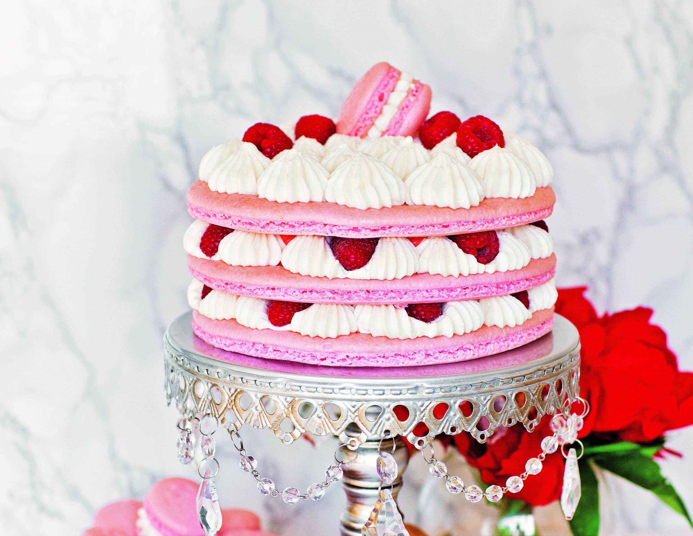 How To Make A Raspberry Lemon Macaron Cake